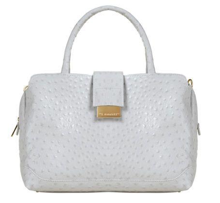 Белая сумка i Santi TOTE BAG STRUZZO
