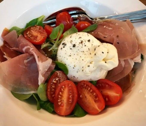 Rossini antipasto mozzarella