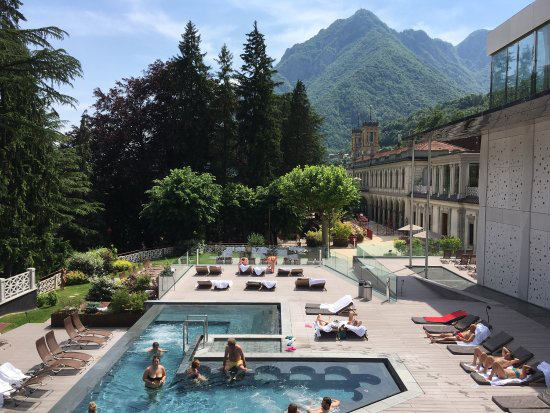 Terme San Pellegrino летом