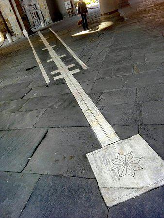 Стрелка солнечных часов Бергамо